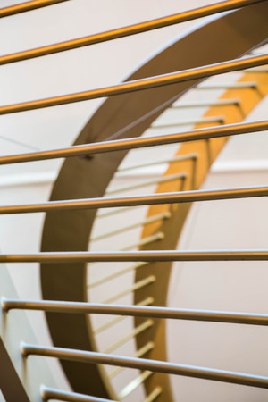 architectural details: Lines and curves of architectural details in gold and white