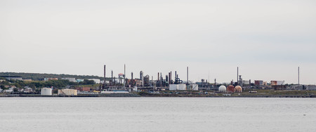 Heavy oil and gas industry on the Canadian coast Stock Photo