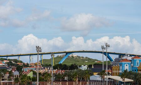 arching: Huge high bridge arching over Curacao