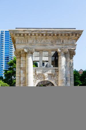 atlanta tourism: Marble arch in Atlanta commemorating Carnegie