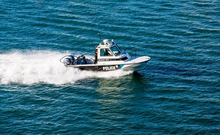 puerto rico: Police Boat in San Juan, Puerto Rico
