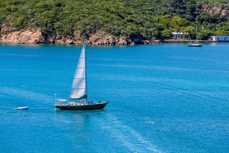 sailboat: Nice sailboat on blue water of St Thomas