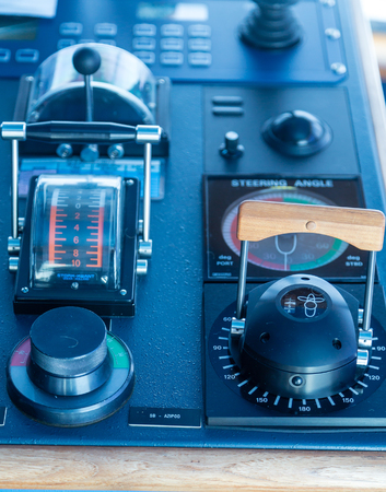 Electronics And Controls On The Bridge Of A Luxury Cruise Ship - Cruise ship controls