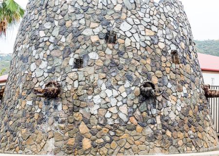 thomas stone: An Old Stone and Mortar Fountain on St Thomas