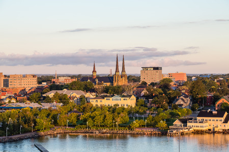 View of Charlottetown, Prince Edward Island, Canada from the sea