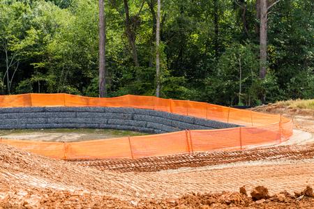 silt: A Silt Fence Around a Retention Pond