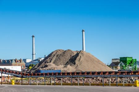 Coal Mining Operation op de kust van Prince Edward Island