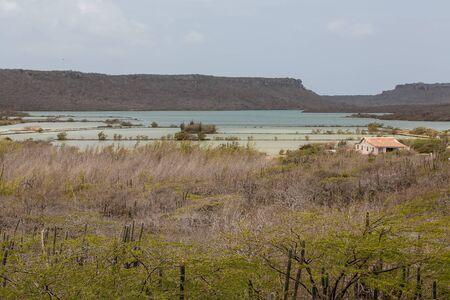 curacao: An old Abandoned Salt Pond on Curacao