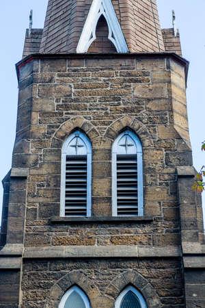scotia: An old brown stone church in Sydney, Nova Scotia