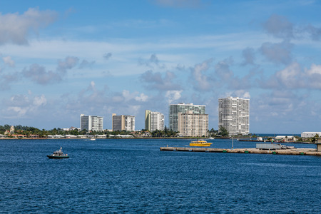 port everglades: Modern condos around the harbor of Port Everglades in Fort Lauderdale Florida Stock Photo