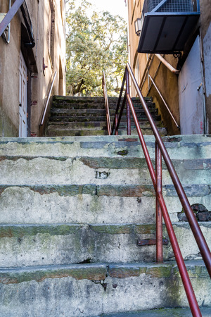concrete steps: Old Concrete Steps in Urban setting
