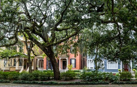 Old traditional home in Savannah, Georgia