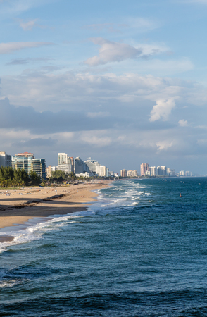 port everglades: Resort town of Fort Lauderdale Florida with beach