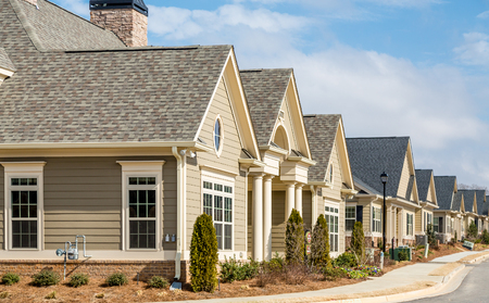 townhomes: New Row Houses on street