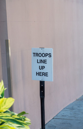 troops: Sign for Troops Line up Here