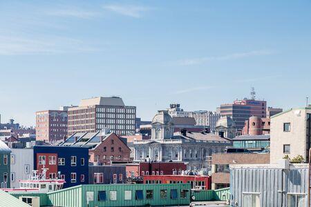Ansicht von Portland Maine aus dem Meer Standard-Bild