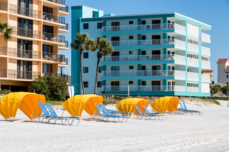 florida beach: Nice resort hotel on a Florida beach