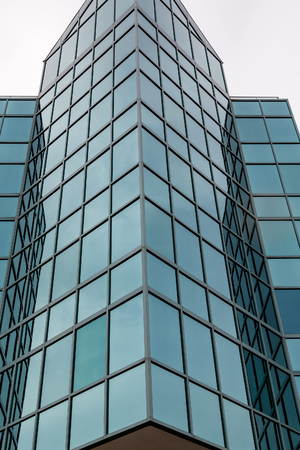 corporate buildings: Blue Glass Angled on Office Tower in Halifax