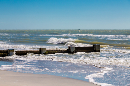 breakers: Breakers to prevent sand erosion on beach of Clearwater Florida