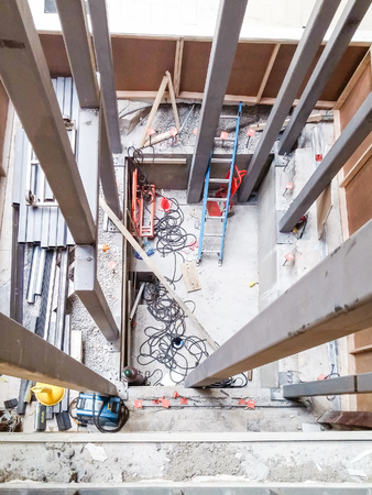 shaft: New Elevator Shaft Construction in mall