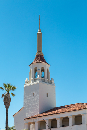 church steeple: Church Steeple on Old Mission Church in Santa  Barbara