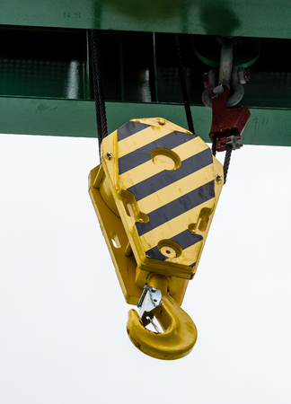 pulley: Industrial Hook on a Pulley and cables
