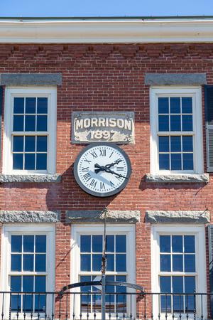 morrison: Old Morrison Building in Bar Harbor Maine Stock Photo
