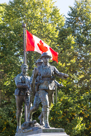 canadian military: Canadian war memorial in Charlottetown on Prince Edwared Island