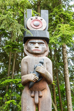 canadian pacific: Male Totem in Woods