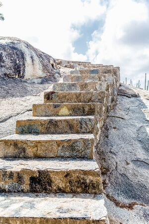 aruba: Stone steps carved into boulders in Aruba