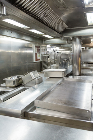 commercial equipment: Stainless Steel Cooking Equipment in Commercial Ktichen