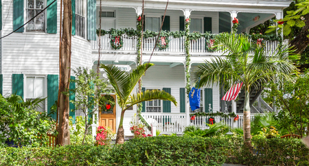 key west: Two Story Tropical Home at Christmas in Key West
