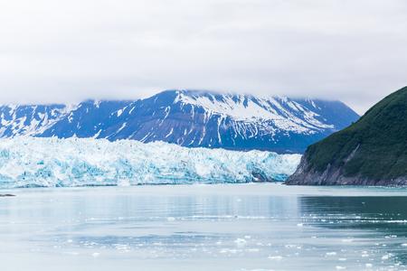 Mist Over Hubbard Glacier in Alaska