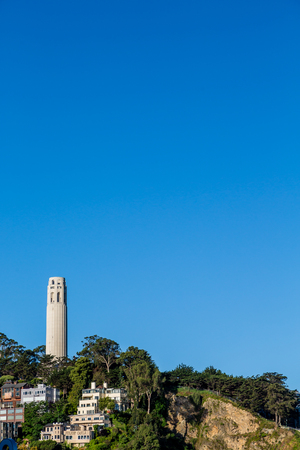 coit tower: Coit Tower on Telegraph Hill in San Francisco