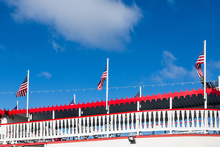 Details on a classic riverboat on the Savannah River