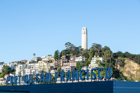 Coit Tower on Telegraph Hill in San Francisco