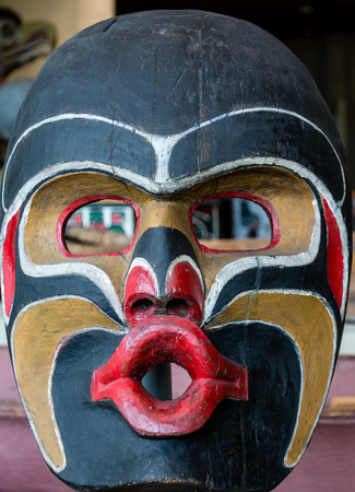 northwest indian art: Inuit Totem Mask in Vancouver