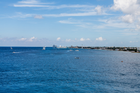 cozumel: The coast of Cozumel in Mexico from the sea