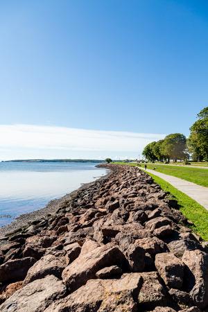 プリンスエド ワード島の護岸沿い遊歩道 写真素材