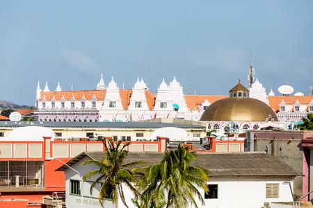 windward: Aruba Rooftops of Resorts Stock Photo