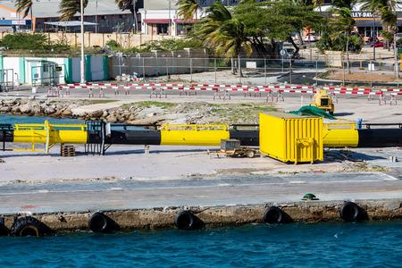 Freight Shipping operation on the coast of Aruba