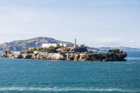 alcatraz: The prison and island of Alcatraz in San Francisco Bay Stock Photo