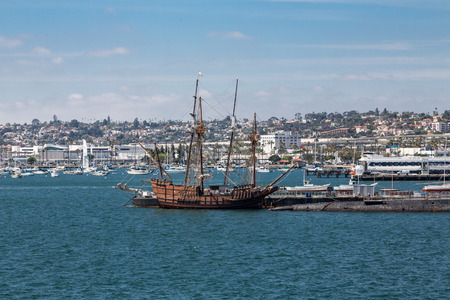 Four Masted Wood Sailboat in San Diego