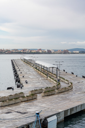 Long Curving Concrete Pier in Majorca