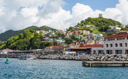 grenada: Many Colorful Homes on Grenada Hillside