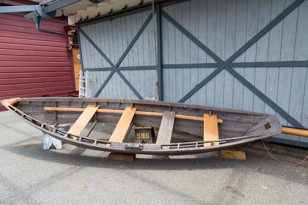 Old Rowboat Repairs at boatyard