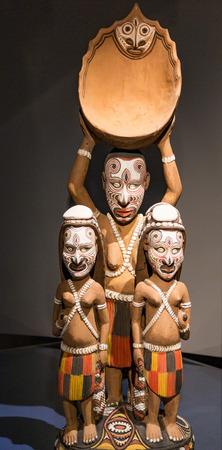Tribal masks from Papau New Guinea Stock Photo