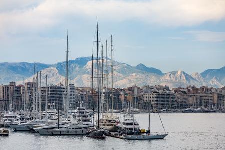 Luxury Yachts docked at Palma de Mallorca Spain
