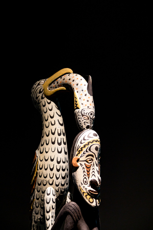 Tribal masks from Papau New Guinea Stock fotó