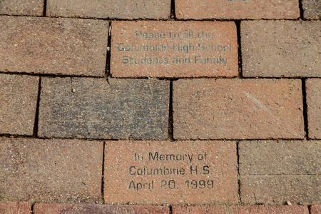 Columbine Memorial Bricks in Colorado